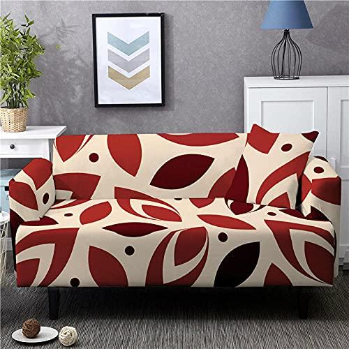 Funda Sofa 4 Plazas Chaise Longue Forma del Color De La Tarjeta Fundas para Sofa ,Cubre Sofa Ajustables,Fundas Sofa Elasticas,Funda de Sofa Chaise Longue,Protector Cubierta para Sofá