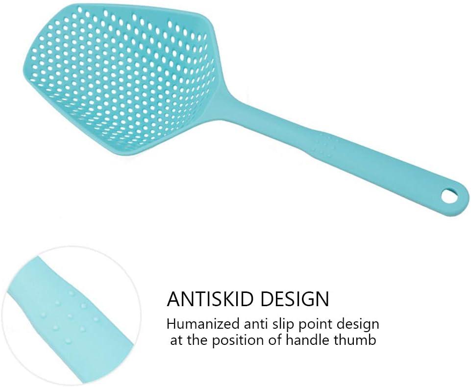 Riboaoy Scolapasta per scolapasta e colino con cucchiaio da cucina colore: Blu