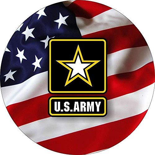 Embleem met afdekking van het reservewiel, militaire vlag voor 255 / 75R17 voor camper, aanhanger, ECC.