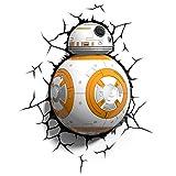 Star Wars BB-8 3D LED Wandlicht Deko Lampe Wandsticker