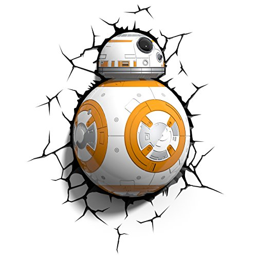 Star Wars DC697766 Bb8 3D Wall Light, Plastique