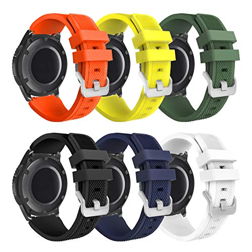 kytuwy Gear s3 Frontier Correa - 22mm Correa de Reloj Galaxy Watch 46mm Pulsera de Repuesto para Galaxy Watch 3 45mm/Gear s3 Frontier/Gear s3 Classic Smartwatch.(6packB)