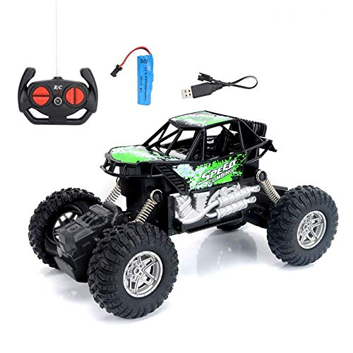YQGOO Alloy RC Car Off-Road Vehicle Charging Big Bike Children 4 Channel Electric Remote Control Toy Car Gifts for Boys, The Best Birthday for Adults and Children (Color : A)