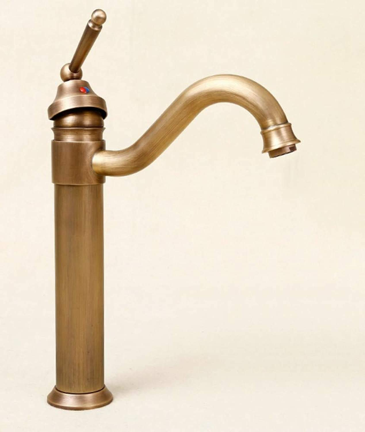 redOOY Antique art basin faucet plus high basin plus high hot and cold copper full of retro faucet kitchen tap
