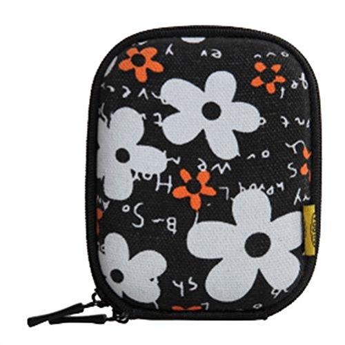 Bilora Shell Bag IV für Kompaktkamera Flower schwarz