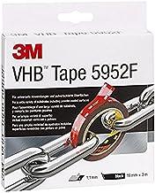 3M VHB 5952F dubbelzijdige tape, sterke duurzame verbinding van glas, kunststof, enz, zwart, 19 mm x 3 m
