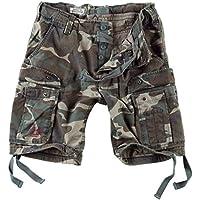 Surplus Hombres Airborne Vintage Pantalones Cortos Lavado Woodland tamaño M