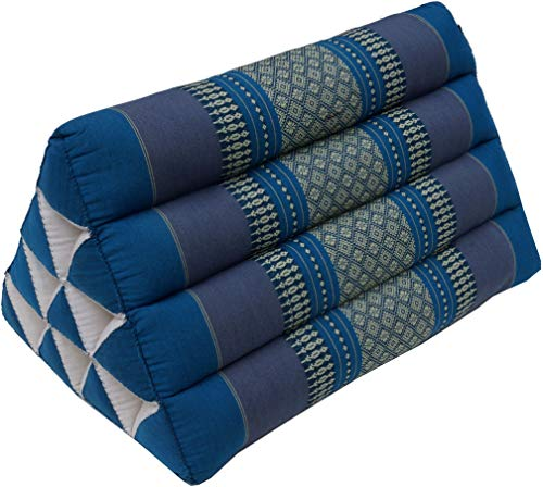 Guru-Shop Dreieck Thaikissen, Dreieckskissen, Kapok - Türkis, 30x30x50 cm, Asiatisches Sitzkissen, Liegematte, Thaimatte