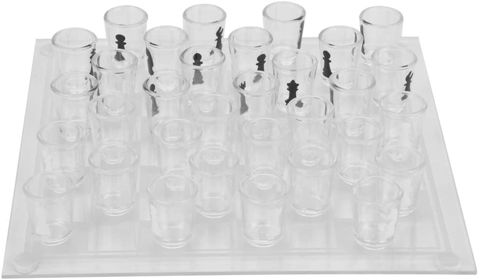 Redxiao~ International Chess Glass 35x35cm Set Our shop most popular Credence