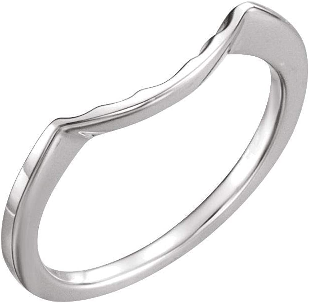 Solid Sterling Silver New product Matching Band for Ring 6.5mm Round Regular dealer