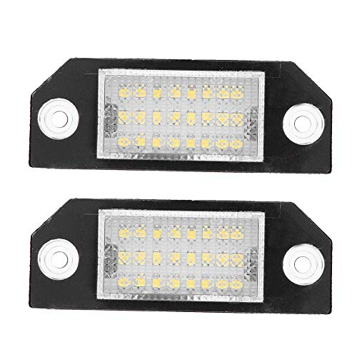 Qii lu 2pcs 24 LED Temperatura de color 6000k Beads Matrícula Lámpara de luz LED para C-MAX Focus MK2