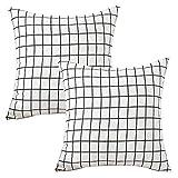Casa de hadas Durable algodón lino cuadrado manta decorativa almohadas fundas de cojín...