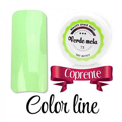 Color Line – Couleur couvrante et effet verre – Gel UV coloré 5 ml, reconstruction de faux ongles Vert pomme