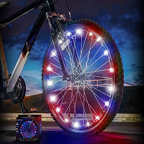 Activ Life Bike Lights (1 Wheel Patriotic) Fitness Gifts for Men Who Have Everything Best Son Daughter Grandson Granddaughter Niece Nephew Fun Sports Gitfs & Present 2021 Cool Ideas for Women