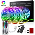 TATUFY LED Strip Lights, 32.8ft 10m Rope Lights with 44 Keys IR Remote and Flexible Color Changing 5050 RGB 300 LEDs Light Strips Kit for Home, Bedroom, Kitchen,DIY Decoration