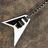 SHUYANshiyu Guitare De Guitare Électrique À Gauche Guitares d'acier Acoustique Guitare Acoustique Guitare électrique (Color : White, Size : 38 inches)