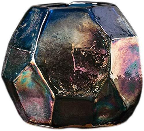 HLL Jarrón de cristal transparente para decoración del hogar, sala de estar, flor grande 12,5 12,5 cm, decoración del hogar, A: 12,5 cm, 11 cm, A: 12,5 cm, 11 cm