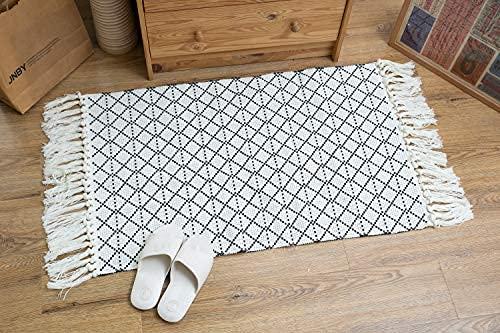 Böhmische Bereich Teppich, 2 x 3 ft Boho Teppich mit Quaste Teppich, Vintage Waschbar Teppiche für Küche Boden Wohnzimmer Waschküche