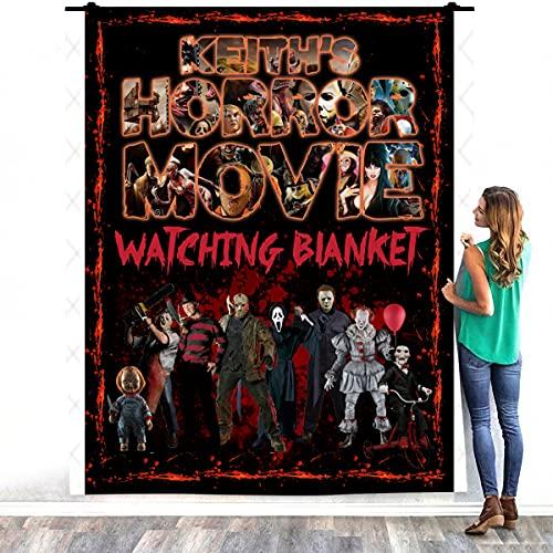 Zoko Apparel Personalizzato Nome Personalizzato Horror Movie Character Coperta Calda Letto - Decorazione Camera da Letto Casa Accogliente Coperta In Pile (127 x 152 cm)
