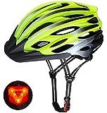 Shinmax Casco Bici Uomo Donna Casco MTB con Luce di LED Casco Bici con Visiera Certificato CE Protezione Leggero Regolabile Protettiva Unisex Adulti Casco Bici per Ciclismo Strada Skateboard 57-62CM