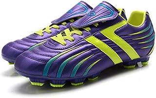 Xiang guan 时尚青少年球鞋 钉球鞋 专业运动鞋 足球鞋 户外训练鞋 休闲运动鞋 童鞋 男鞋(这款鞋也有儿童鞋) 紫黄 32