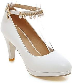BalaMasa Womens APL12065 Pu Stiletto Heels