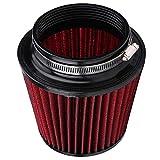 Soapow Limpiador de filtro de aire fresco de cono cónico redondo de alto flujo limpiador universal del filtro de aire del coche