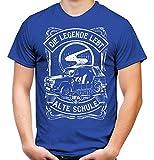 Camiseta para hombre y hombre de la antigua escuela Trabant | DDR Nostalgie Ossi 600 601 Kübel Trabi Oldtimer Macetero azul XL