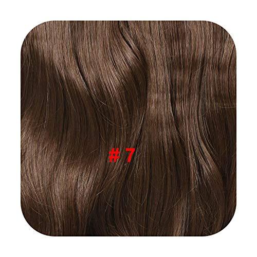 Pince À Cheveux Ondulée Naturelle Dans Les Extensions De Cheveux 24 Pouces Noir Fibre Résistante À La Chaleur 4 Clips En Une Seule Pièce Cheveux Synthétiques-7-24Inches