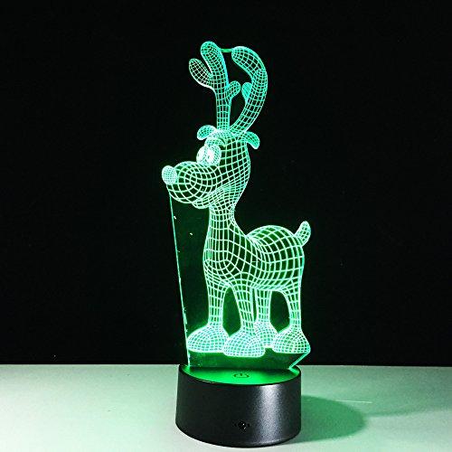 Nacht Acryl Rentier Nachtlichter Weihnachtsdekoration Lichter Projektor Party Lichter