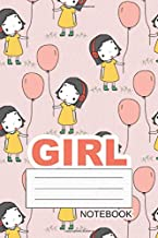 Girl Notebook: Me And My Big Ideas, Draw-Write-Now, Happy Boy, Happy Girl, Children Book, 112 Lined Pages, 6 x 9 in, Cute Girl
