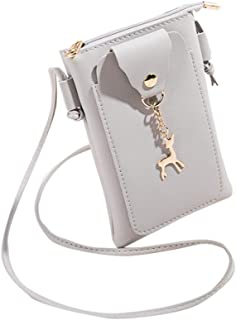 RONSHIN Lady Chic Single Shoulder Satchel Crossbody Bag with Simple Deer Ornaments
