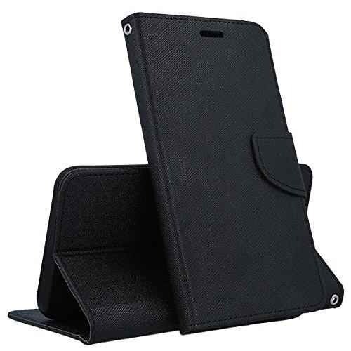 COMPATIBILE Compatible para Huawei Y6 II 2 Y62 Y6II / Honor 5A / CAM-L03 CAM-L21 CAM-L23 CAM-L32 (5.5) Funda Cover Stand Flip Libro Gel TPU Portafolio Imán Piel Imitación Porta Tarjetas Negro