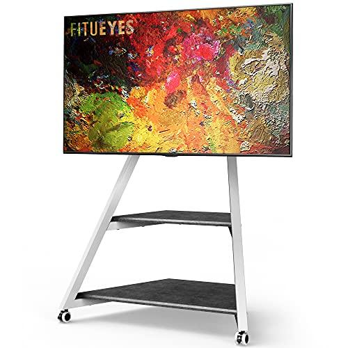 FITUEYES Eiffel Series Art - Soporte de TV para televisores de 45 a 75 Pulgadas, Pantalla LCD/LED, Altura Ajustable, Soporte Universal para TV con gestión de Cables, VESA máx. 400 x 600 mm, White