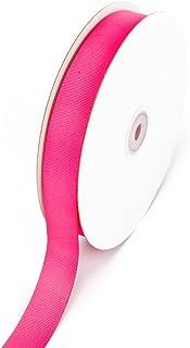 Creative Ideas 7/8-Inch Solid Grosgrain Ribbon, 50-Yard, Hot Pink