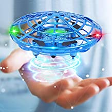 Mini Drone Flying Toy Hand Operated Drones for Kids or Adults - Hands Free UFO Helicopter, Easy Indoor Outdoor Flying Ball Drone Toys for Boys Girls (Blue)