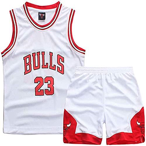 Maglie Da Basket Per Bambini E Ragazzi, Gilet Senza Maniche Per Abbigliamento Sportivo Da Basket Michael Jordan # 23 Chicago Bulls, Maglia Estiva Da Basket Uniforme E Pantaloncini,3XS-2XL