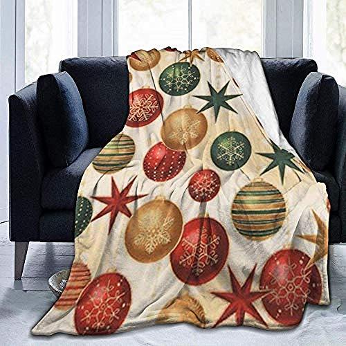HDAXIA Kuscheldecke Decke,Winters Grandeur Christmas Baubles Stars, Warm Ultra-Soft Flanell Fleece Leichte Decke Schlafsofa Decke Für Erwachsene Und Kinder 60