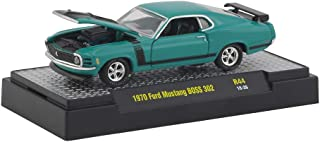 M2 Machines 1:64 Detroit Muscle Release 44 1970 Ford Mustang BOSS 302 Teal
