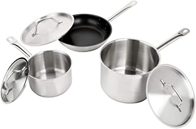 6-Piece Stainless Steel Induction Ready Cookware Set,Vigor
