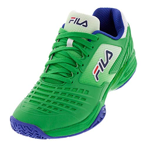Fila Axilus 2 Energized Herren Tennisschuh, Grn (Bright Green/Surf The Web/Fila Navy), 43 EU