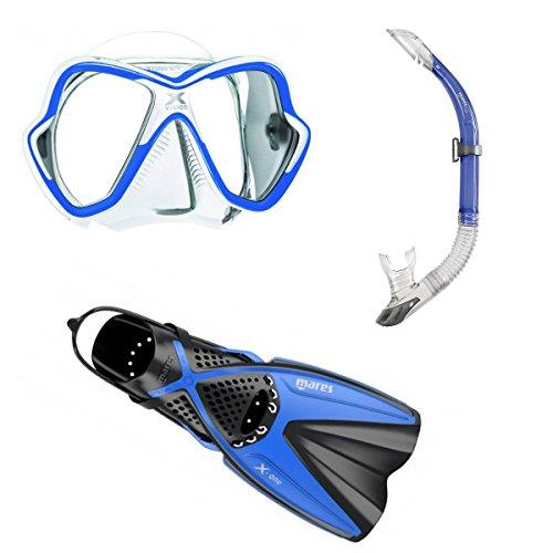 Mares X-One + X-Vision + Sailor Schnorchelset Gr. 35-47 (blau, L/XL (44-47))