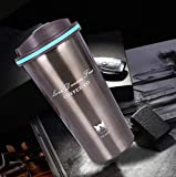 BICHI Thermocup Tea Coffee Mug 500ml Double Wall Stainless Steel Travel Cup Car