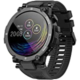 Smartwatch Orologio Fitness Uomo Donna Bambini Impermeabile IP68 Smart Watch Cardiofrequenzimetro da polso Contapassi Fitness Tracker Nuoto Cronometro Notifiche Messaggi per Android iOS