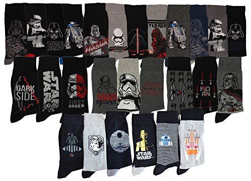 Herren Socken Star Wars Komfort und Fantasie aus Baumwolle – verschiedene Modelle je nach Verfügbarkeit. Gr. 39/42, 9er Pack