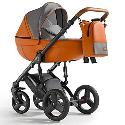 Krausman Kinderwagen 3 in 1 Nexxo Orange Kombikinderwagen Babyschale Babywanne Sportwagen Design Made In Germany