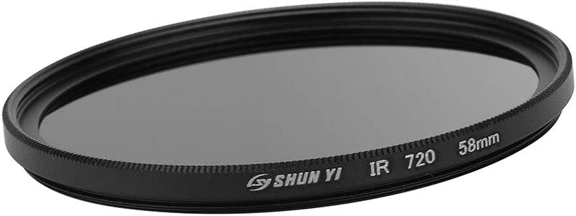 Sdoveb 55mm 720nm Infrared X-RAY IR Filter for Camera Black