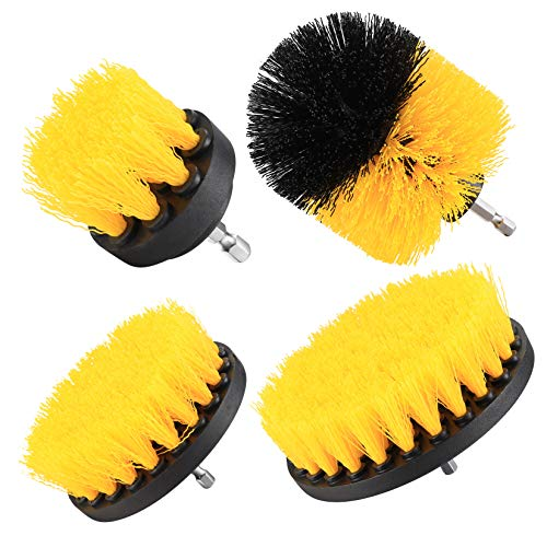 Does not apply 4 Pcs Drill Brushes set, Scrubbing Brush Attachment Kit, Cleaning Brushes for Drill, Car Interior, Carpet, Leather, Upholstery, Glass Cleaning