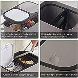 rosemaryrose mülleimer küche mülltrennung küchenmülleimer-Mülleimer Push-Abfalltrennung Mülleimer mit Zwei Fächern für das Büro in der Wohnküche - 3