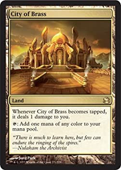 Magic The Gathering - City of Brass  221/229  - Modern Masters - Foil